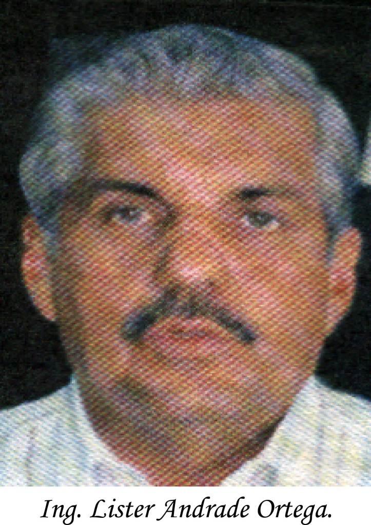 Sr. Lister Andrade Ortega. Alcalde