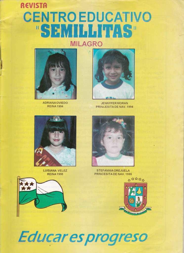 "REVISTA CENTRO EDUCATIVO ""SEMILLITAS"" – MILAGRO. 1994. 1995."
